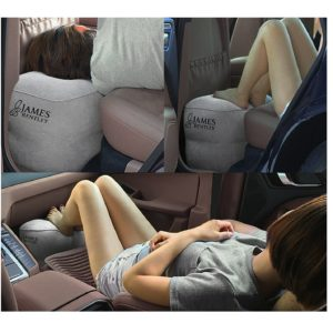 Airplane travel bed for kids to sleep, Inflatable leg rest pillow, inflatable travel pillow, foot rest for camping, resting feet laydown at home plus a free lumbar pillow for back support bundle