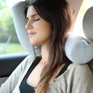 Lavish Home Memory Foam Travel Pillow With Gel That Cools