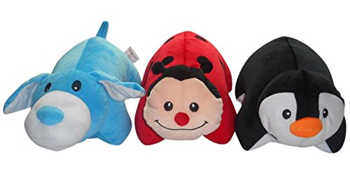 2 in 1 Neck Support Pillow and Travel Pal for Boys & Girls – Convertible U Shape (Penguin)