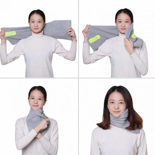 AOOU Travel Pillow Portable Soft Neck Support Perfect Pillow for Any Sitting Position Super Comfortable Pillow for Home Office Car Plane Train Machine Ergonomic Design Washable Pillow