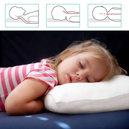 Adoric Life Kids Toddler Pillow with Hypoallergenic Filling Microfiber, 100% Soft Cotton Pillowcase Included, Machine Washable, 14x19, Perfect for Babies, Kids, Children, Travel