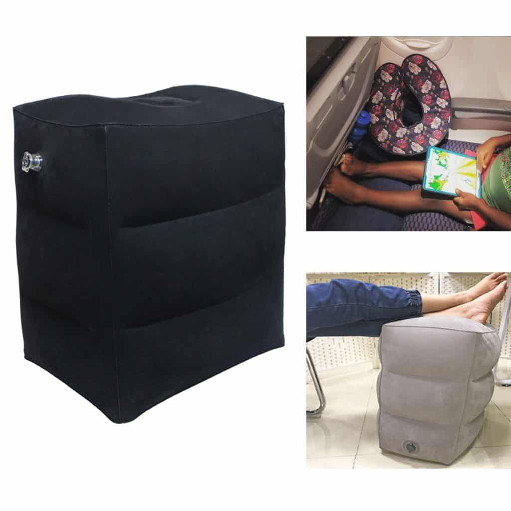 Foot Rest Pillow Airgoods Inflatable Foot Rest Pillow