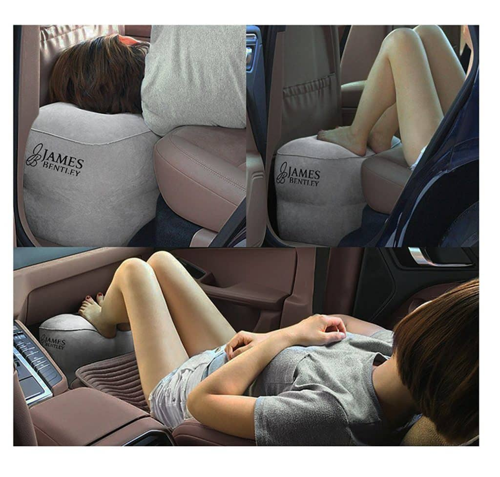 Airplane Travel Bed For Kids To Sleep Inflatable Leg Rest