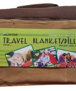 All In One Travel Blanket/Pillow Set With Matching Carry Case, 50