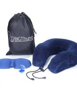BIGThumb Travel Pillow Breathable Super Soft 100% Pure Memory Foam Plush Velour Airplane Pillow,Neck Pillow for Daily Use
