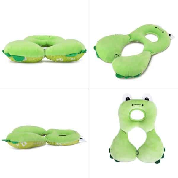Baby Travel Pillow, FOME Kids Baby Toddler Neck Pillow Neck Support Neck Rest for Car Seat Travel Airplane with Safety Seat Belt Protection Cover Shoulder Fit for Baby 1-4 Years Old