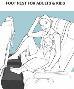 Best Inflatable Foot Rest Pillow - Travel Bed for Kids during Flights or Road-trips by Car, our Leg Rest has Adjustable Heights for a Perfect Fit anywhere, Includes FREE Travel Activity Cards.