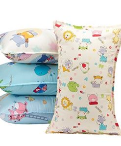 "Biubee 4 packs ( 14""X 21"") Toddler Pillowcases - Fits Pillows Sized 12x16, 13x18 or 14x19, Natural Organic Cotton Pillow Cover Envelop Style for Baby, Infant and Kids"