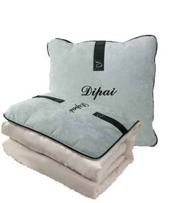 Car Thicker Multi Functional Dual Use Pillow Blanket Set (Free Size, Gray)