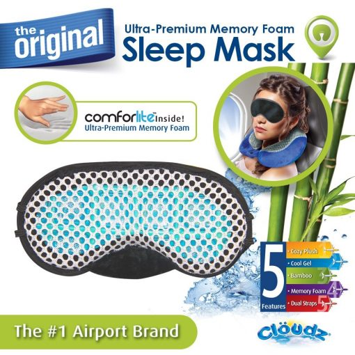 Cloudz Cool Gel & Bamboo Memory Foam Travel Kit - Pink