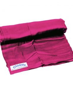 Cloudz Microbead Travel Pillow & Compact Blanket Set - Bright Pink