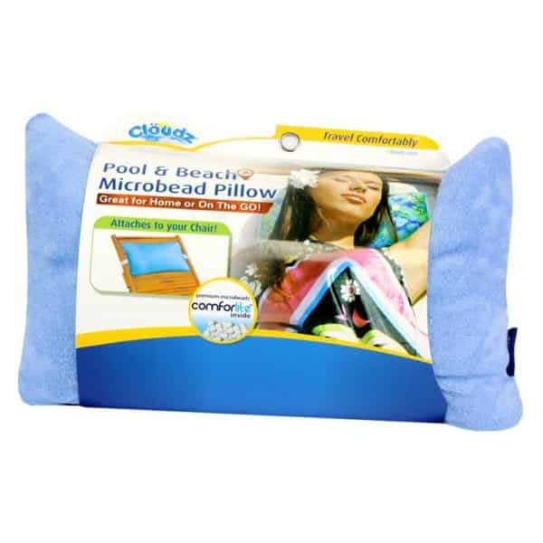 Cloudz Pool & Beach Microbead Pillow - Blue