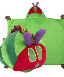 Comfy Critters Stuffed Animal Blanket – The World of Eric Carle, The Very Hungry Caterpillar – Kids huggable pillow and blanket perfect for pretend play, travel, nap time