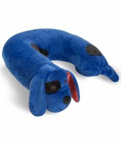 Critter Piller Kid's Travel Buddy and Comfort Pillow, Blue Dog, Hypoallergenic, Machine Washable, Recycled Filling