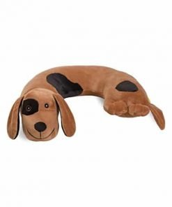 Critter Piller Kid's Travel Buddy and Comfort Pillow, Brown Dog, Hypoallergenic, Machine Washable, Recycled Filling