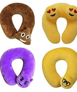 Cute Feces Emoji Emoticon Memory Foam U Shaped Travel Pillow Neck Support Head Rest Cushion - Ideal Gift ,Tuscom (#1)
