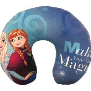 Disney Frozen Your Own Dreams Travel Neck Pillow, Blue Sisters
