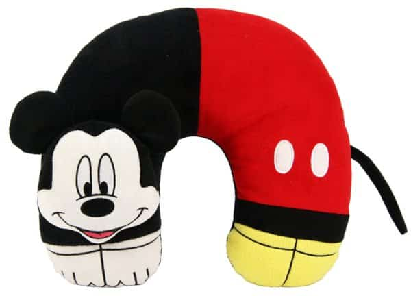 Disney Mickey Mouse 3D Character Travel Pillow