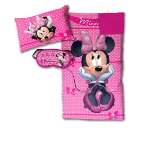 Disney Minnie Mouse Bowtique Sleepover Set - Sleeping Bag, Pillow and Eye Mask