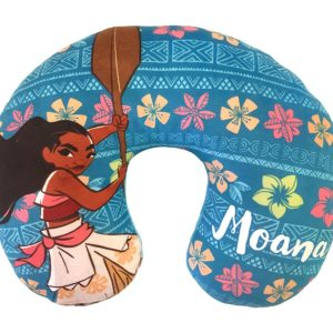 Disney Moana Flower Travel Neck Pillow, Teal Neck Pillow