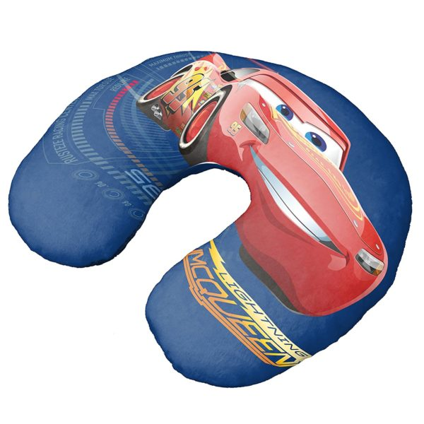 Disney-Pixar Cars 3 Movie Speed Lightning Mcqueen Blue Neck Pillow