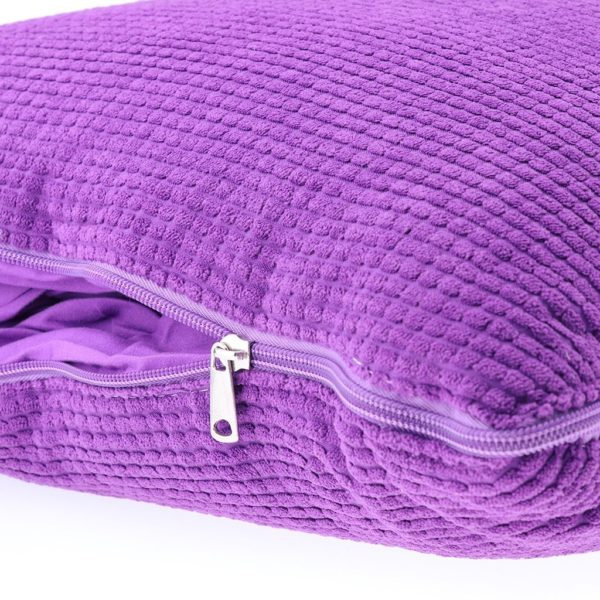 Dovewill Dual-use Pillow Blanket Set Multi-use Bolster for Car Home Office Travel Outdoor - Purple, L
