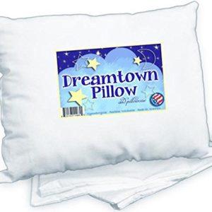 Dreamtown Kids Toddler Pillow With Pillowcase 14x19 White