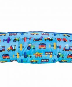 Easy Clean, Water-Resistant Nap Mat, Olive Kids by Wildkin Children's Nap Mat with Built in Blanket and Pillowcase, Pillow Insert Included, Premium Microfiber, Ages 3-7, Trains, Planes and Trucks