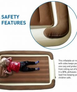 EasyGoProducts Let Your Kids Be Cozy and Safe with Our Inflatable Travel Whether This Bambino Used At Home As a Toddler Portable Bed When Growing Out of a Rails