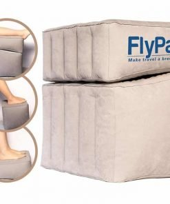 Flypal Comfortable, Inflatable Foot & Leg Rest For Car, Office, Airplanes | Cushions and Blow-Up Pillow for Feet & Legs | Portable Cushion Pillows, Ottomans, and Airbeds for Children
