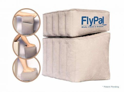 Flypal Comfortable, Inflatable Foot & Leg Rest For Car, Office, Airplanes   Cushions and Blow-Up Pillow for Feet & Legs   Portable Cushion Pillows, Ottomans, and Airbeds for Children