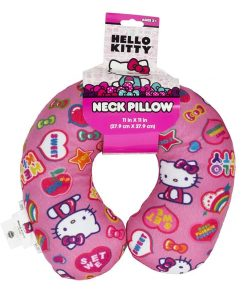 Hello Kitty Pink Rainbow Travel Neck Pillow