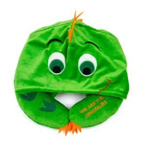 HoodiePillow Pals Travel Pillow - Green Dinosaur