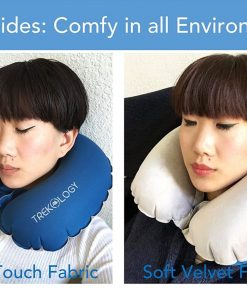 Inflatable Airplane Pillow, Neck Travel Pillows - Compact Portable Head and Neck Support Pillows in Flight, Small U Shape Headrest Cushion for Best Rest & Sleep while Traveling