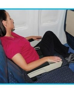 Inflatable Footrest Travel Pillow. Leg Rest for Airplane, Road Trips and Car Pet Bed! Inflatable Ottoman style with FAST DEFLATE Valve. Ships from Nevada Not China.