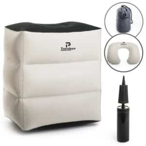 Inflatable Travel Leg Rest Pillow and Sleep Cushion for Kids and Adults