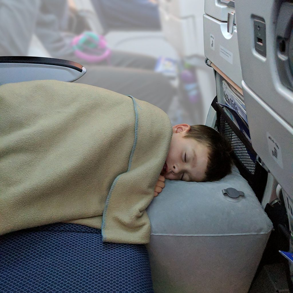 Inflatable Travel Pillow Bed Leg Rest For Kids To Lie