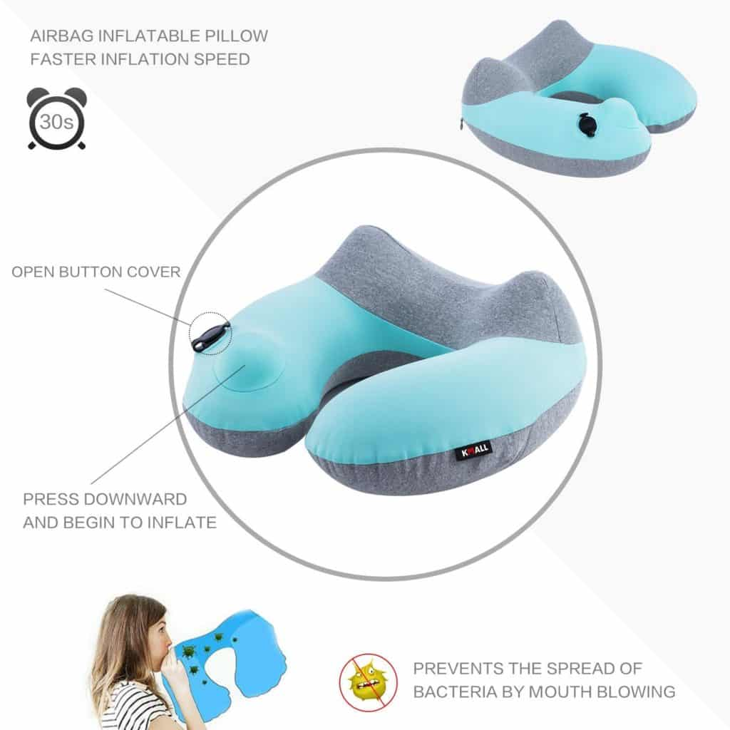 Compact Travel Pillows Inflatable Travel Pillow Kmall