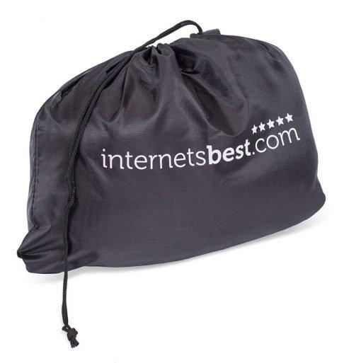 Internet's Best Memory Foam Travel Pillow Set - U-Shape Neck Pillow, Sleep Mask, Earplugs, and Travel Bag - Grey