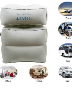 JJMG New Inflatable Adjustable Detachable Leg Rest Travel Pillow On Long Flights