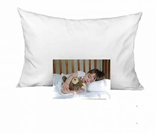 "KP Linen 2 Set Kids Toddler Travel Pillow Cases 100% Egyptian Cotton - Pillows Sized 14"" x 20"", Zipper Closure White Solid"