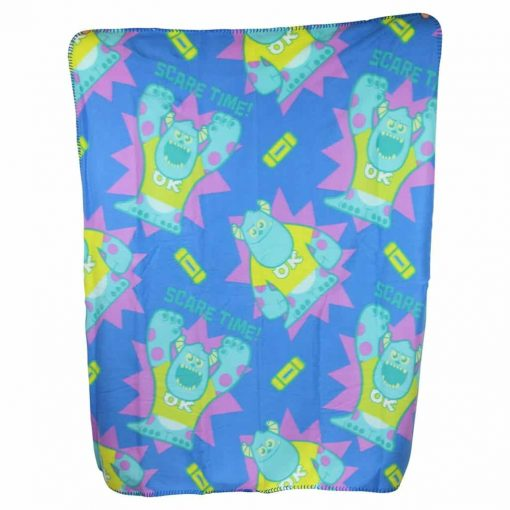 Kid's Character Throw Blanket and Pillow Set (Sulley Sullivan)