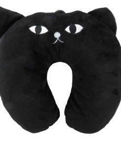 Kids Neck Support Pillow Black Cat 13 x 12 1/2 - MEOW!