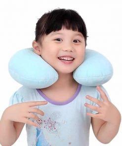 Kids Travel Neck Pillow Changes To Stuffed Animal Toy For Your Child -- Microbeads Hold U-Shape and Keep Head Upright and Comfortable Even on Long Car and Plane Trips. Makes a Great Carry-On or Gift