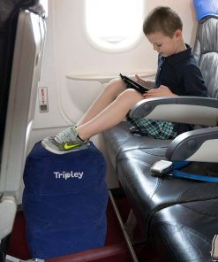Kids Travel Pillow, Inflatable Foot Rest - Fly Comfortably with an Airplane Footrest
