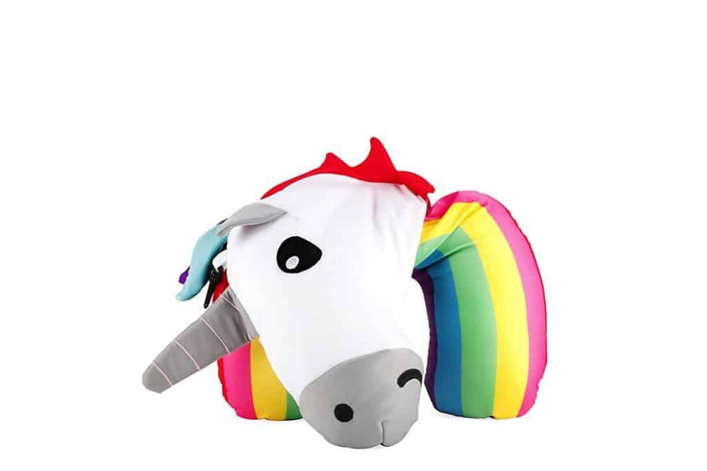 Flip Travel Neck Pillow Kikkerland Unicorn Zip Amp Flip