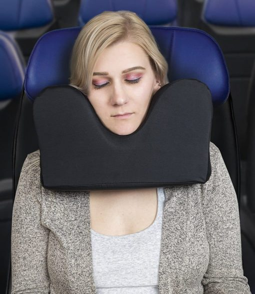 Knidos Travel Pillow for Restful Sleep on an Airplane,Unique Design for Maximum Head Both Side Support, Adjustable Buckle System,%100 Memory Foam,Easy to Carry Bag to Save Space and MicroClimate Cover