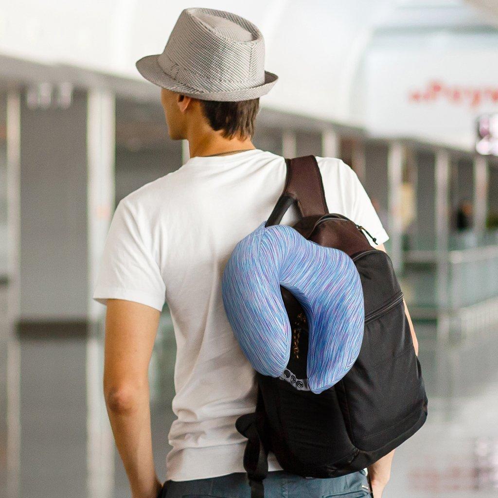 Ergonomic Contoured U Shape Travel Pillow Langria Memory