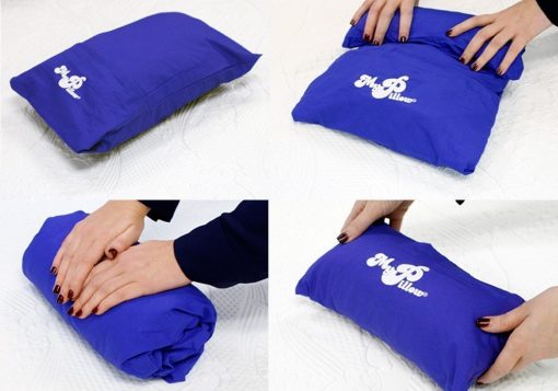 MyPillow Roll N Go Travel Pillow Rolls Into It's Own Pillow Case