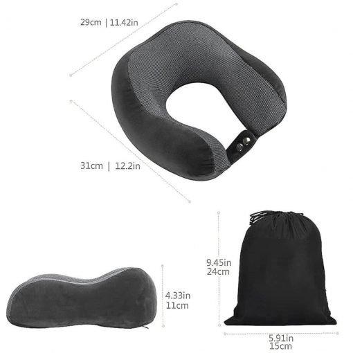 Nap U Pillow Slow Rebound Memory Foam U Shaped Travel Car Seat Pillow